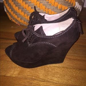 Miu miu oxford peep toe wedge so 40 brand new
