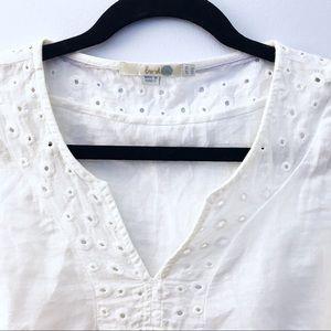 🖤💙 B O D E N  White Collar Crotchet Detail Top