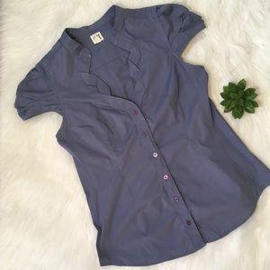 Anthro Edme & Esyllte Blue Blouse Size 10