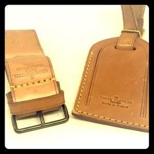 Authentic Louis Vuitton Luggage Tag, Strap: 3 pcs
