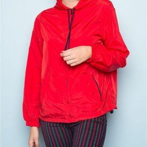 Brandy Melville Red Polly windbreaker jacket