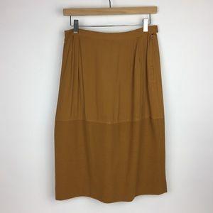 Vintage | Mustard Midi Skirt