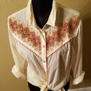 Holding Horses from Anthropologie Western Shirt