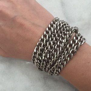 H & M | Silver Chain Heavy Clasp Bracelet