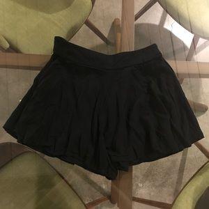 Fun light shorts/ skirt black new- wear anywhere!!