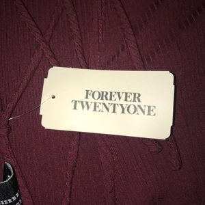 New With Tags Forever 21 Burgundy Dress Size M.