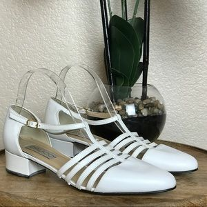 ⬇️Calico Leather Heeled Sandal