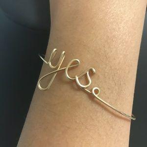 "Accessories - ""Yes"" bracelet"