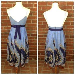 Anthropologie ANNA SUI Silk Dress Floral Swirl
