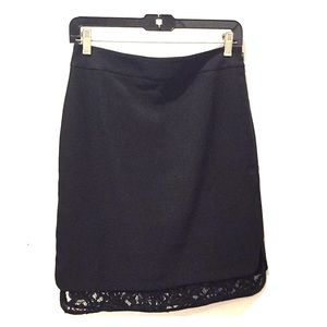 Ann Taylor | Black Skirt with Lace | NWOT