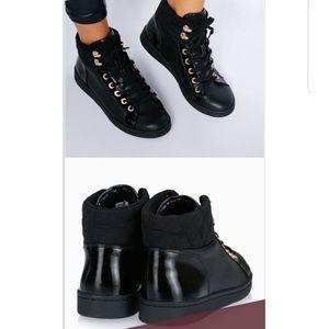 ALDO high top black sneakers