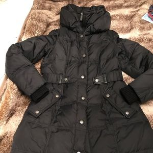 DKNY black down coat