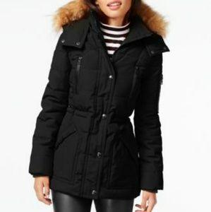 Guess Faux-Fur Yrim Hooded Puffer Coat