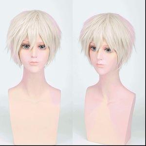 Light Blond Spiky Anime Cosplay Wig, NEW!
