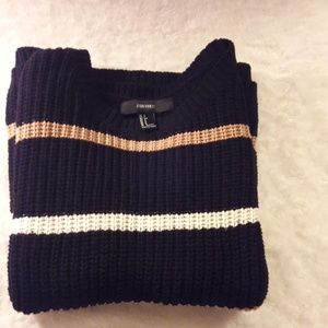 Forever 21 dark blue, white, and tan sweater