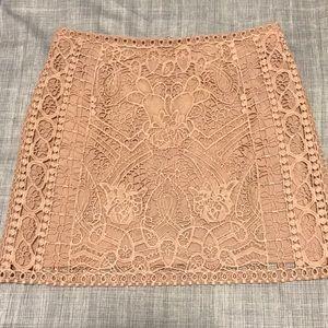 Club Monaco Pandora Lace Crochet Mini Skirt