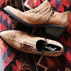 Free people Tan Leather Booties