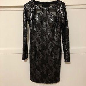Black Long Sleeve Sequin Dress