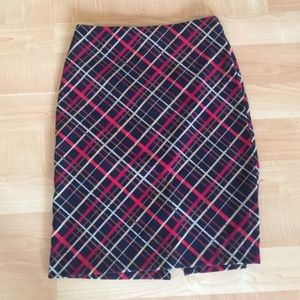 BUNDLE ONLY A Byer Red Black Plaid Pencil Skirt