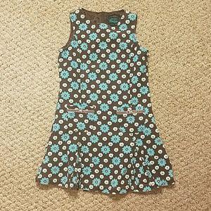 Girls Corduroy Boden Flower Dress