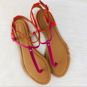 Calvin Klein T-Strap Sandal