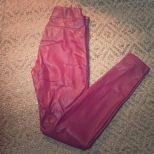 Zara Trafaluc Collection- Red Leather pants