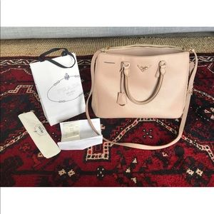 Prada Saffiano Lux Executive Large Tote Handbag