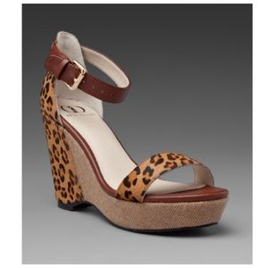 Kelsi Daggar Liliana Wedge in Leopard