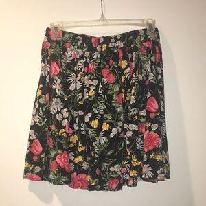 Floral flowy skirt