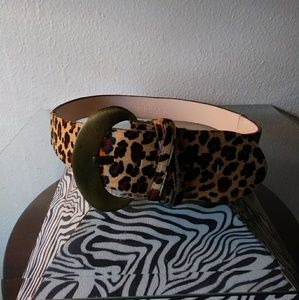 Cheetah design mohair belt