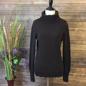 LOFT   Chocolate Brown Turtleneck Sweater Size M