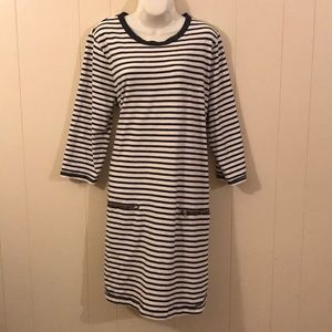 Gap xl striped sweater dress