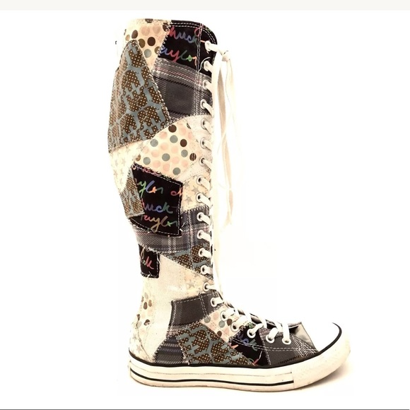 ee728f6816a3 Converse Shoes - Converse Chuck Taylor Knee High Patchwork Shoes