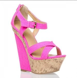 Beautiful Pink Wedges
