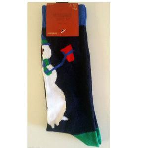 Mens 6-12 Novelty Fun Crew Socks Snowman New