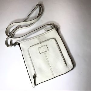 Fossil white cross-body purse