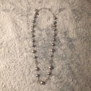 ✨Black & Grey Pearl • Crystal Necklace ✨