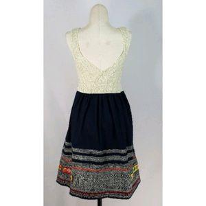 Free People Empire Knit Bodice Sleeveless Dress