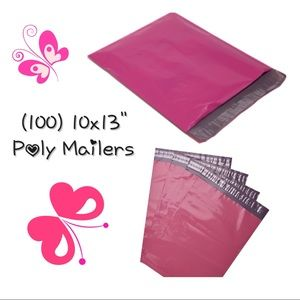 """(100) 10x13"""" Hot Pink Poly Mailers"""