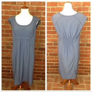 ATHLETA Blue Midi Dress Lightweight