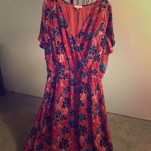 Crescent Faux Wrap Maxi Dress - 2X