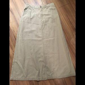 Eddie Bauer MaxinKhaki Skirt