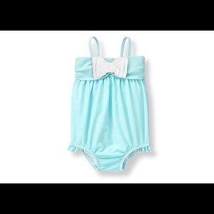 NWT!! Striped Bow Swimsuit