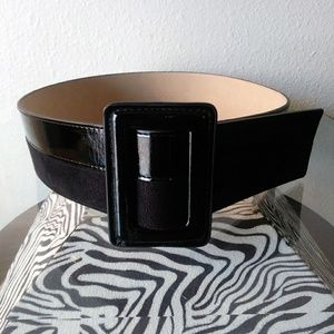 Combo leather/suede belt