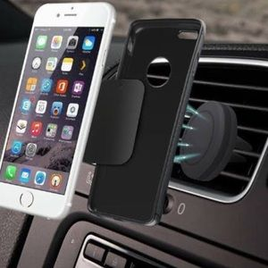Magnetic vent mount cell phone holder