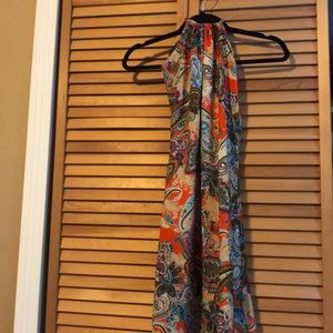Beulah Style Paisley Print Maxi Dress - S/M