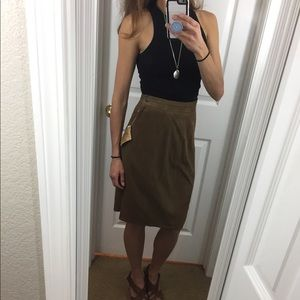 Banana Republic genuine suede pencil skirt