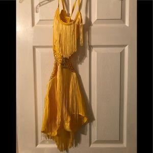 Jazz, theater or Tap costume w/fringe AS