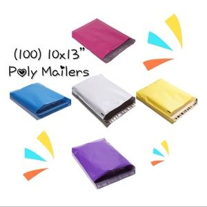 """(100) 10x13"""" Mixed Color Poly Mailers"""