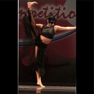 Dance costume lyrical/contemporary 2 pc black